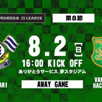 【試合結果】2020明治安田生命J3リーグ第8節 vs FC